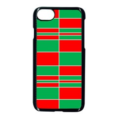 Christmas Colors Red Green Apple iPhone 7 Seamless Case (Black)