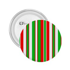 Christmas Holiday Stripes Red Green,white 2 25  Buttons by Nexatart