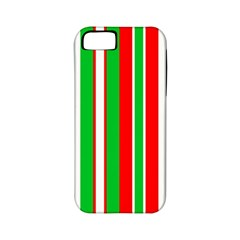 Christmas Holiday Stripes Red Green,white Apple Iphone 5 Classic Hardshell Case (pc+silicone) by Nexatart