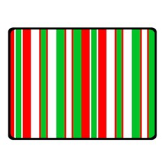 Christmas Holiday Stripes Red Green,white Double Sided Fleece Blanket (small)  by Nexatart