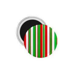 Christmas Holiday Stripes Red Green,white 1 75  Magnets by Nexatart