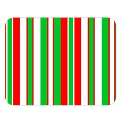 Christmas Holiday Stripes Red Green,white Double Sided Flano Blanket (large)  by Nexatart