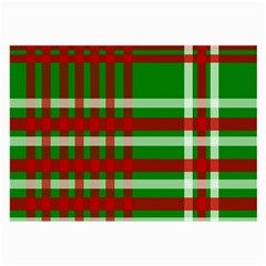 Christmas Colors Red Green White Large Glasses Cloth (2 Side) by Nexatart