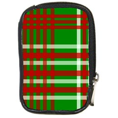 Christmas Colors Red Green White Compact Camera Cases by Nexatart