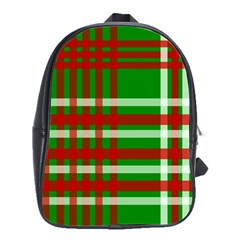 Christmas Colors Red Green White School Bags(large)