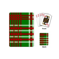 Christmas Colors Red Green White Playing Cards (mini)