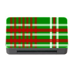 Christmas Colors Red Green White Memory Card Reader With Cf by Nexatart