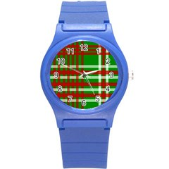 Christmas Colors Red Green White Round Plastic Sport Watch (s)