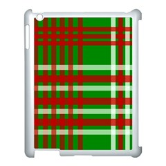 Christmas Colors Red Green White Apple Ipad 3/4 Case (white) by Nexatart