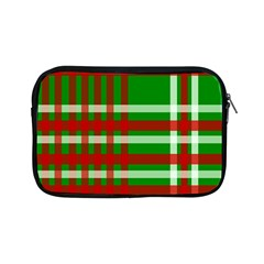 Christmas Colors Red Green White Apple Ipad Mini Zipper Cases by Nexatart