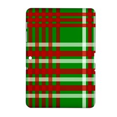 Christmas Colors Red Green White Samsung Galaxy Tab 2 (10 1 ) P5100 Hardshell Case