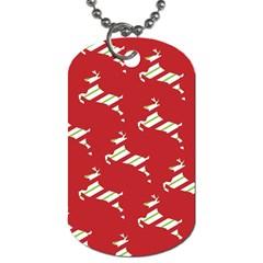 Christmas Card Christmas Card Dog Tag (one Side)