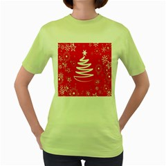 Christmas Tree Women s Green T Shirt by Nexatart