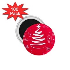 Christmas Tree 1 75  Magnets (100 Pack)  by Nexatart