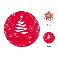 Christmas Tree Playing Cards (round)