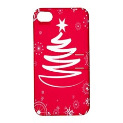 Christmas Tree Apple Iphone 4/4s Hardshell Case With Stand