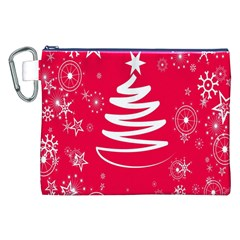Christmas Tree Canvas Cosmetic Bag (xxl) by Nexatart