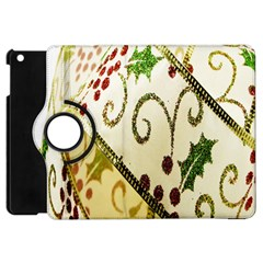 Christmas Ribbon Background Apple Ipad Mini Flip 360 Case by Nexatart