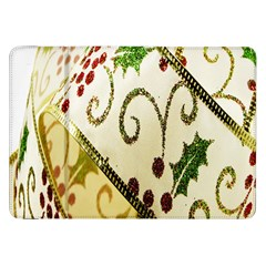 Christmas Ribbon Background Samsung Galaxy Tab 8 9  P7300 Flip Case