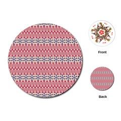 Christmas Pattern Vintage Playing Cards (round)