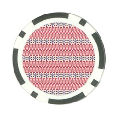 Christmas Pattern Vintage Poker Chip Card Guard by Nexatart