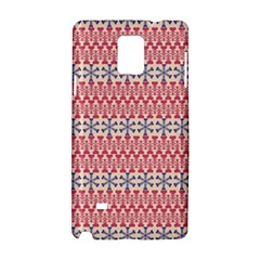 Christmas Pattern Vintage Samsung Galaxy Note 4 Hardshell Case