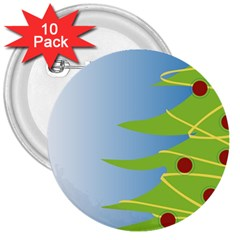 Christmas Tree Christmas 3  Buttons (10 Pack)