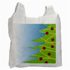 Christmas Tree Christmas Recycle Bag (two Side)