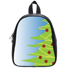 Christmas Tree Christmas School Bags (small)  by Nexatart