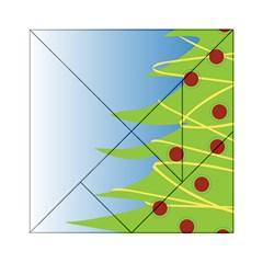 Christmas Tree Christmas Acrylic Tangram Puzzle (6  X 6 )