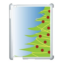 Christmas Tree Christmas Apple Ipad 3/4 Case (white)