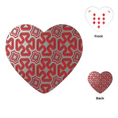 Christmas Wrap Pattern Playing Cards (heart)  by Nexatart