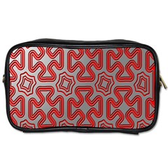 Christmas Wrap Pattern Toiletries Bags 2 Side by Nexatart