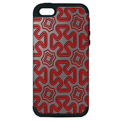 Christmas Wrap Pattern Apple Iphone 5 Hardshell Case (pc+silicone)