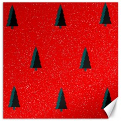 Christmas Time Fir Trees Canvas 12  X 12   by Nexatart
