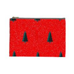 Christmas Time Fir Trees Cosmetic Bag (large)