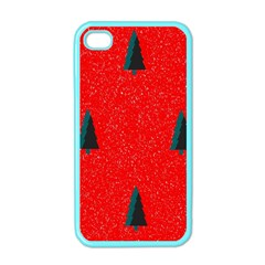 Christmas Time Fir Trees Apple Iphone 4 Case (color)