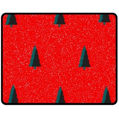 Christmas Time Fir Trees Double Sided Fleece Blanket (medium)