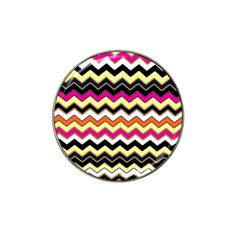 Colorful Chevron Pattern Stripes Hat Clip Ball Marker (10 Pack) by Nexatart