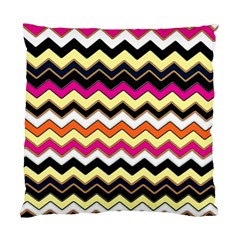 Colorful Chevron Pattern Stripes Standard Cushion Case (one Side) by Nexatart