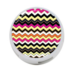 Colorful Chevron Pattern Stripes 4 Port Usb Hub (two Sides)  by Nexatart