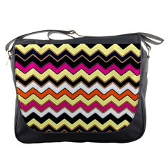 Colorful Chevron Pattern Stripes Messenger Bags