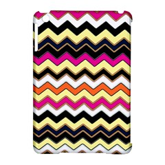 Colorful Chevron Pattern Stripes Apple Ipad Mini Hardshell Case (compatible With Smart Cover) by Nexatart