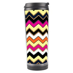 Colorful Chevron Pattern Stripes Travel Tumbler