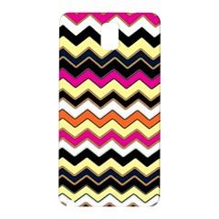 Colorful Chevron Pattern Stripes Samsung Galaxy Note 3 N9005 Hardshell Back Case by Nexatart