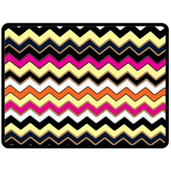 Colorful Chevron Pattern Stripes Double Sided Fleece Blanket (large)