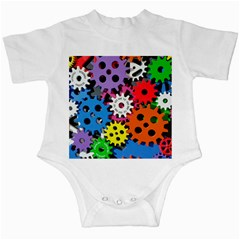 Colorful Toothed Wheels Infant Creepers by Nexatart
