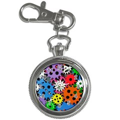Colorful Toothed Wheels Key Chain Watches