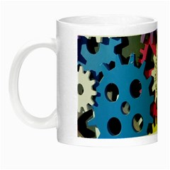 Colorful Toothed Wheels Night Luminous Mugs by Nexatart
