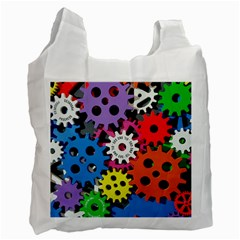 Colorful Toothed Wheels Recycle Bag (one Side) by Nexatart
